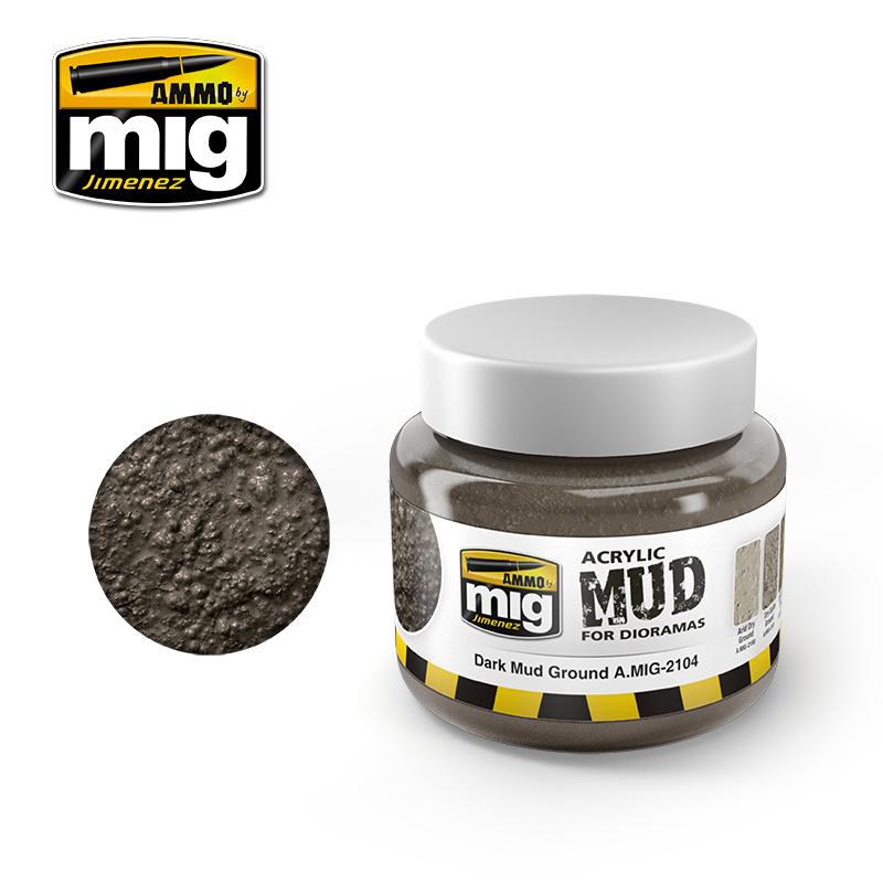 Ammo by Mig Jimenez Dark Mud Ground - 250ml - A.MIG-2104