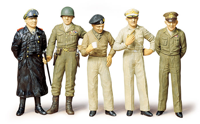 Tamiya Famous Generals (5 Figures) ** - Scale 1/35 - Tamiya - TAM35118