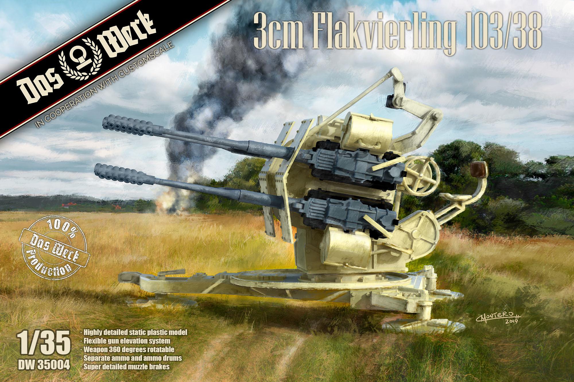 Das Werk 3cm Flakvierling 103/38 - Scale 1/35 - Das Werk - DW35004