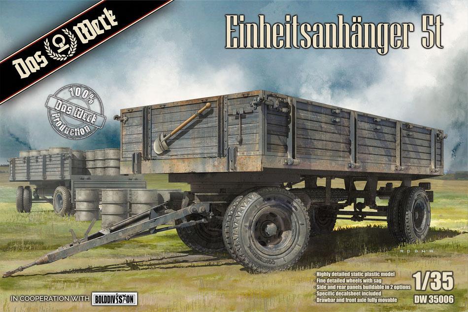 Das Werk Einheitsanhänger 5t - Scale 1/35 - Das Werk - DW35006