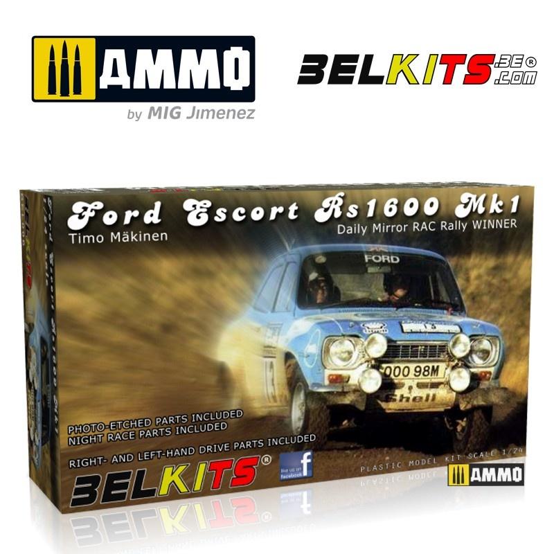 Belkits Ford Escort Mk.1 Makinen Rac 1973 - Scale 1/24 - Belkits - BEL006