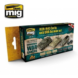 Wargame Paint Sets - Wargame Early And Dak German Set - A.MIG-7116