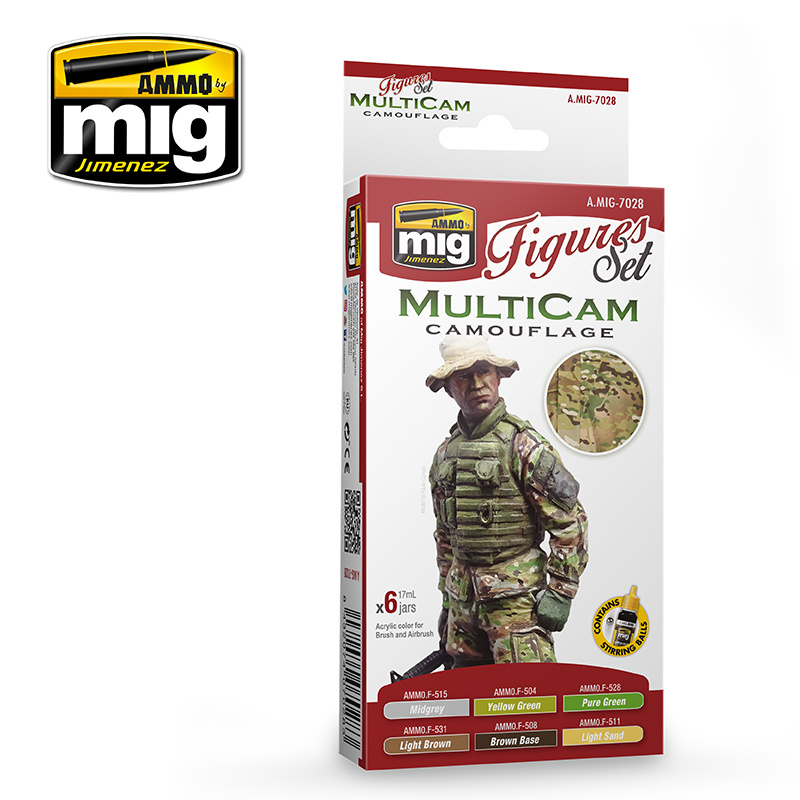 Ammo by Mig Jimenez Figure Paint Sets - MULTICAM - A.MIG-7028