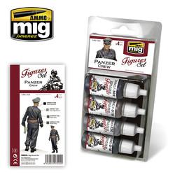 Figure Paint Sets - Panzer Crew - A.MIG-7024