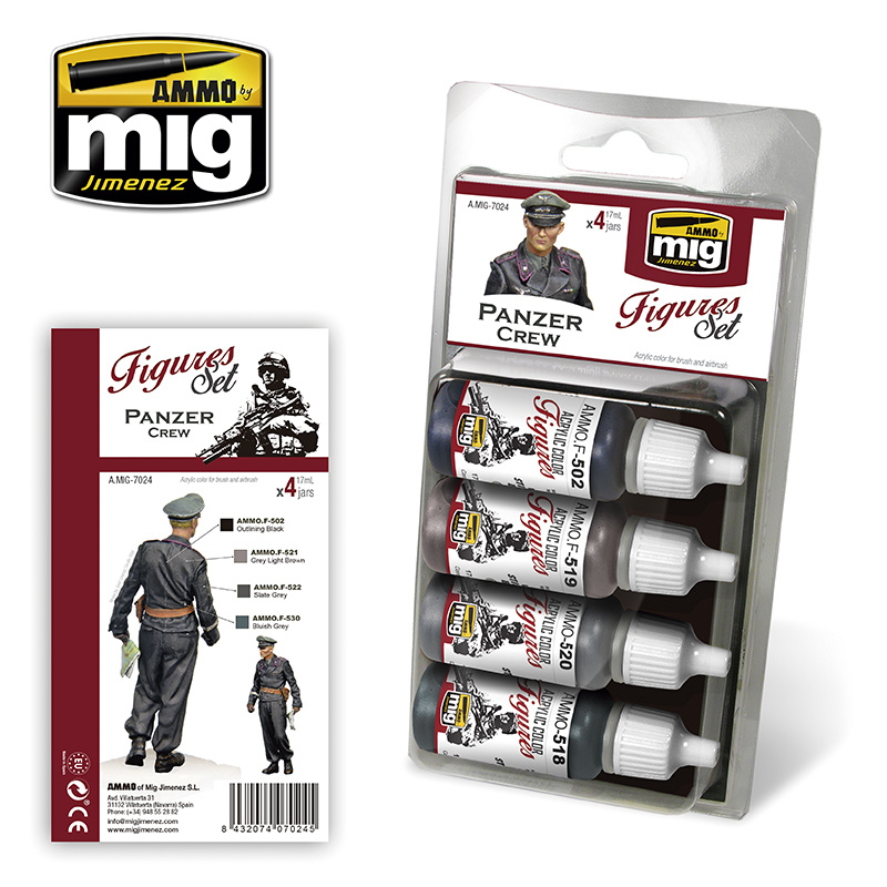 Ammo by Mig Jimenez Figure Paint Sets - PANZER CREW - A.MIG-7024