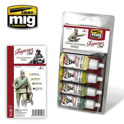 Figure Paint Sets - Soviet Uniforms WWII - A.MIG-7023