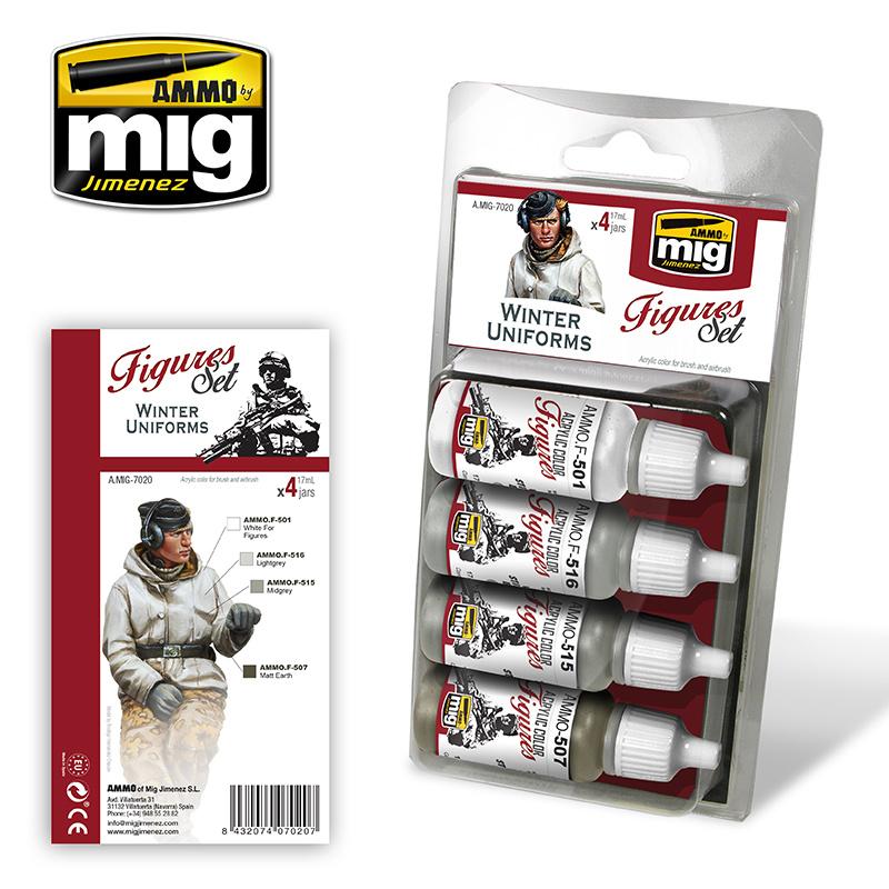 Ammo by Mig Jimenez Figure Paint Sets - WINTER UNIFORMS - A.MIG-7020