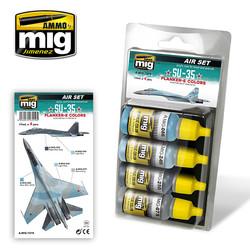 Aircraft Paint Sets - SU-35 Flanker-E Colors - A.MIG-7219