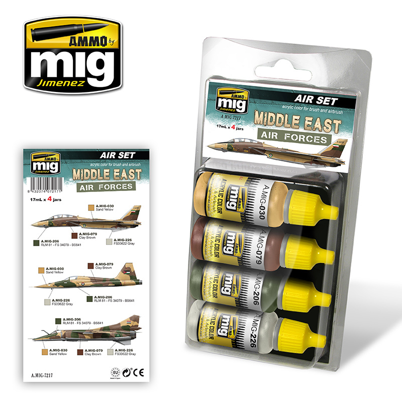 Ammo by Mig Jimenez Aircraft Paint Sets - Middle East Air Forces - A.MIG-7217