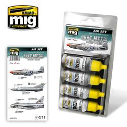 Aircraft Paint Sets - Bare Metal Aircraft Colors - A.MIG-7216