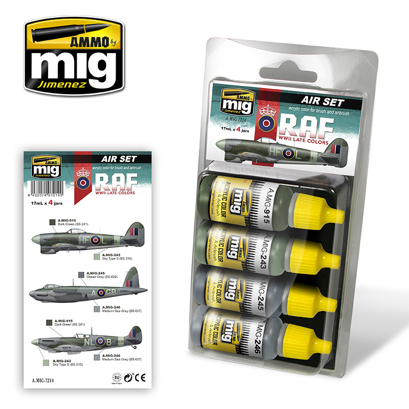 Ammo by Mig Jimenez Aircraft Paint Sets - Late WWII Raf Colors - A.MIG-7214