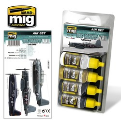Aircraft Paint Sets - US Navy WWII Colors - A.MIG-7207