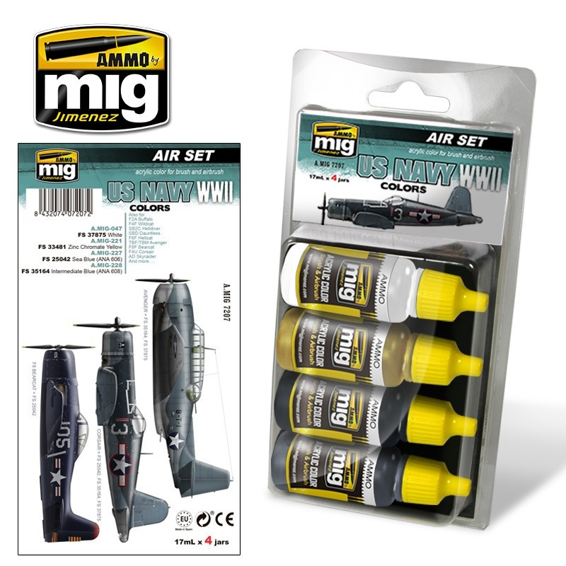 Ammo by Mig Jimenez Aircraft Paint Sets - US Navy WWII Colors - A.MIG-7207