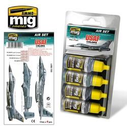 Aircraft Paint Sets - USAF Set 1: Grey Modern Jets - A.MIG-7202