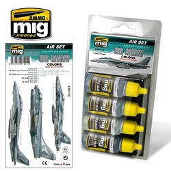 Aircraft Paint Sets - USN Set 1: From 80's To Present - A.MIG-7201