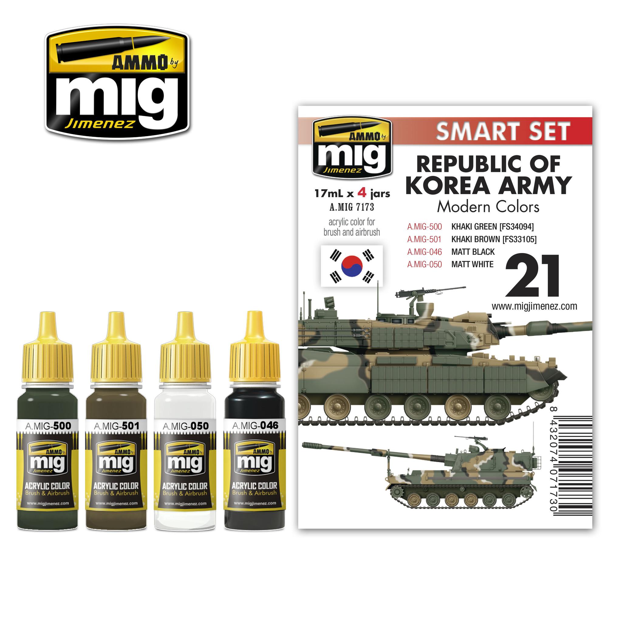 Ammo by Mig Jimenez Republic Of Korea Army Modern Colors - A.MIG-7173