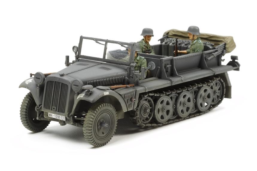 Tamiya German 1T Half Track Sd.Kfz 10 - Scale 1/35 - Tamiya - TAM37016