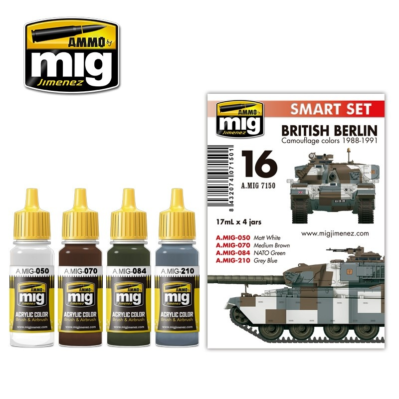 Ammo by Mig Jimenez British Berlin Camouflage Colors 1988-1991 - A.MIG-7150