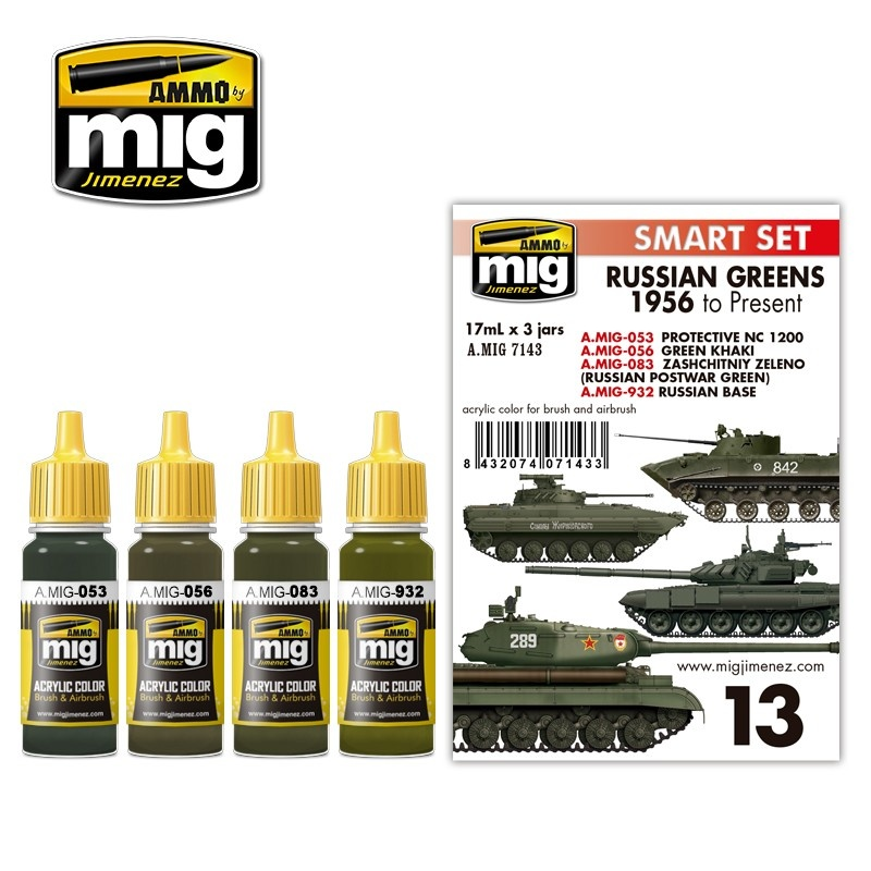 Ammo by Mig Jimenez Russian Greens 1956 To Present - A.MIG-7143