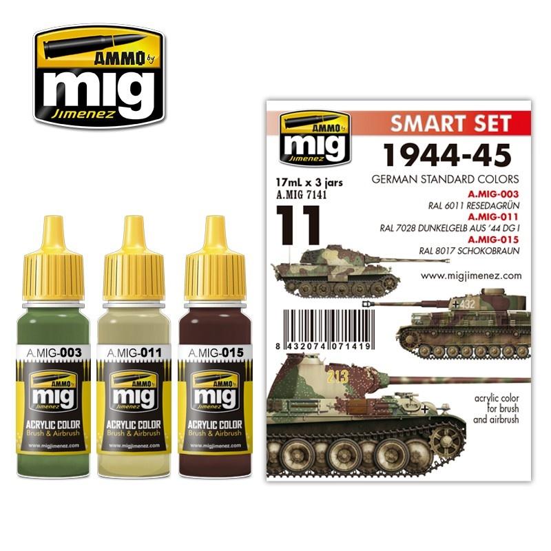 Ammo by Mig Jimenez 1944-1945 German Standard Colors - A.MIG-7141