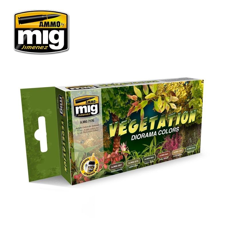 Ammo by Mig Jimenez Vegetation Diorama Colors - A.MIG-7176