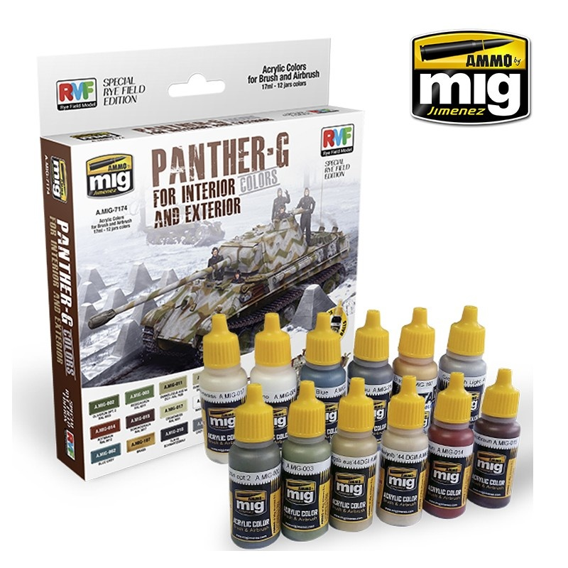 Ammo by Mig Jimenez Panther G Colors For Interior And Exterior (Special Ryefield Edition) - A.MIG-7174