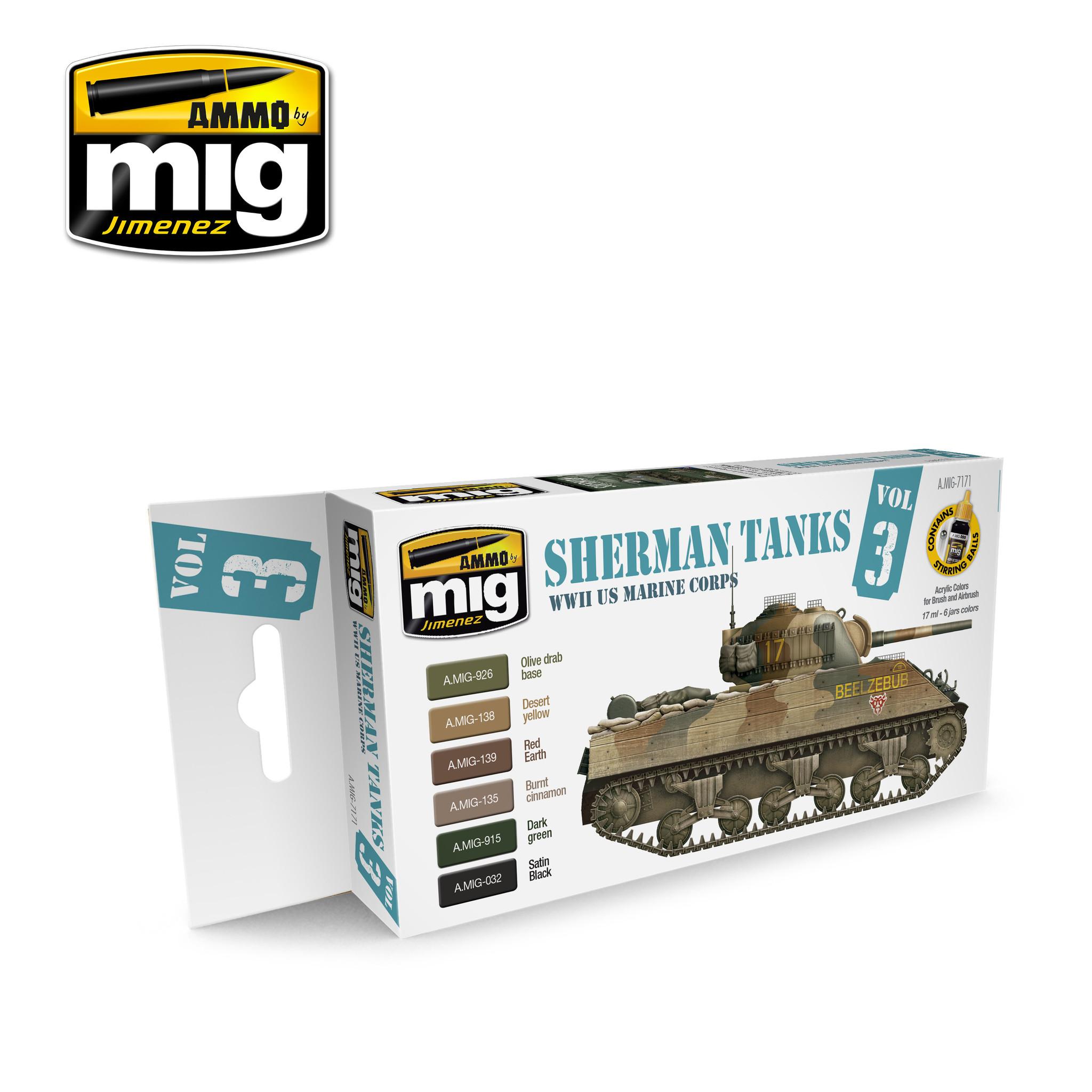 Ammo by Mig Jimenez WWII Us Marine Corps Sherman Tanks - A.MIG-7171