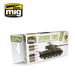 WWII European Theater Of Operations Sherman Tanks - A.MIG-7170