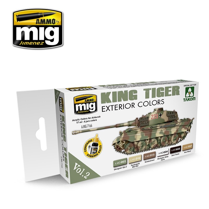 Ammo by Mig Jimenez King Tiger Exterior Color (Special Takom Edition) Vol.2 - A.MIG-7166