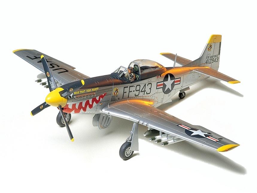 Tamiya F51D Mustang Korean War Aircraft - Scale 1/48 - Tamiya - TAM61044