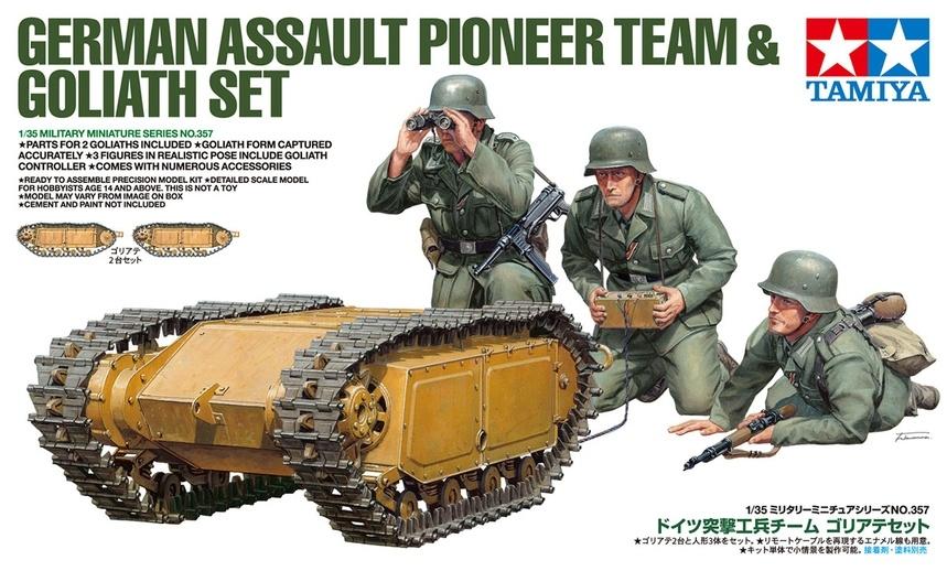 Tamiya German Assault Pioneer Team - With 2 Goliath Sets - Scale 1/35 - Tamiya - TAM35357