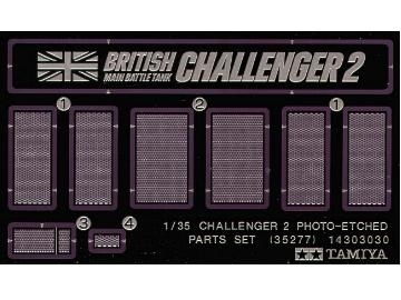 Tamiya Challenger 2 Photo-Etched Parts Set - Scale 1/35 - Tamiya - TAM35277