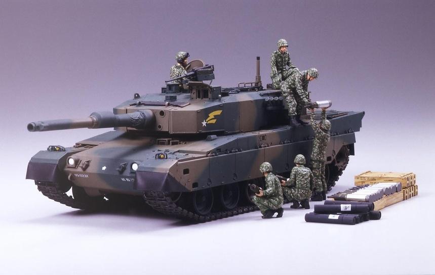 Tamiya Jgsdf Type 90 Tank W/Ammo-Loading Crew Set - Scale 1/35 - Tamiya - TAM35260