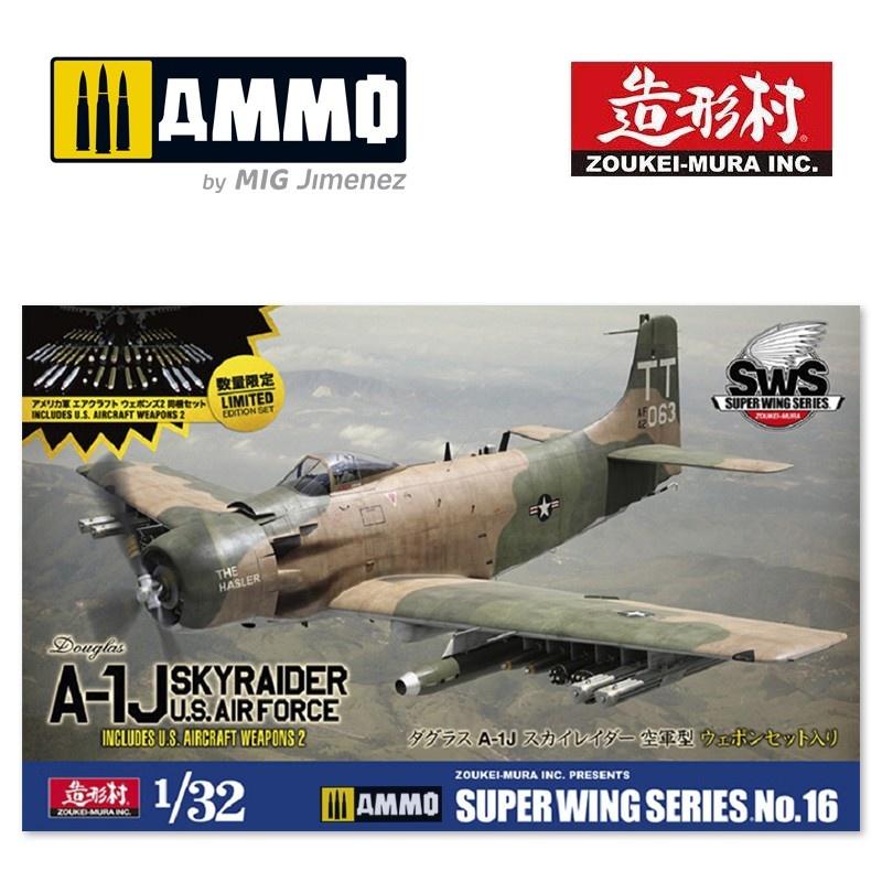 Douglas A-1J Skyraider U.S Air Force Incl U.S Aircraft Weapons 2 - Zoukei Mura - Scale 1/32 - VOLKSWS16