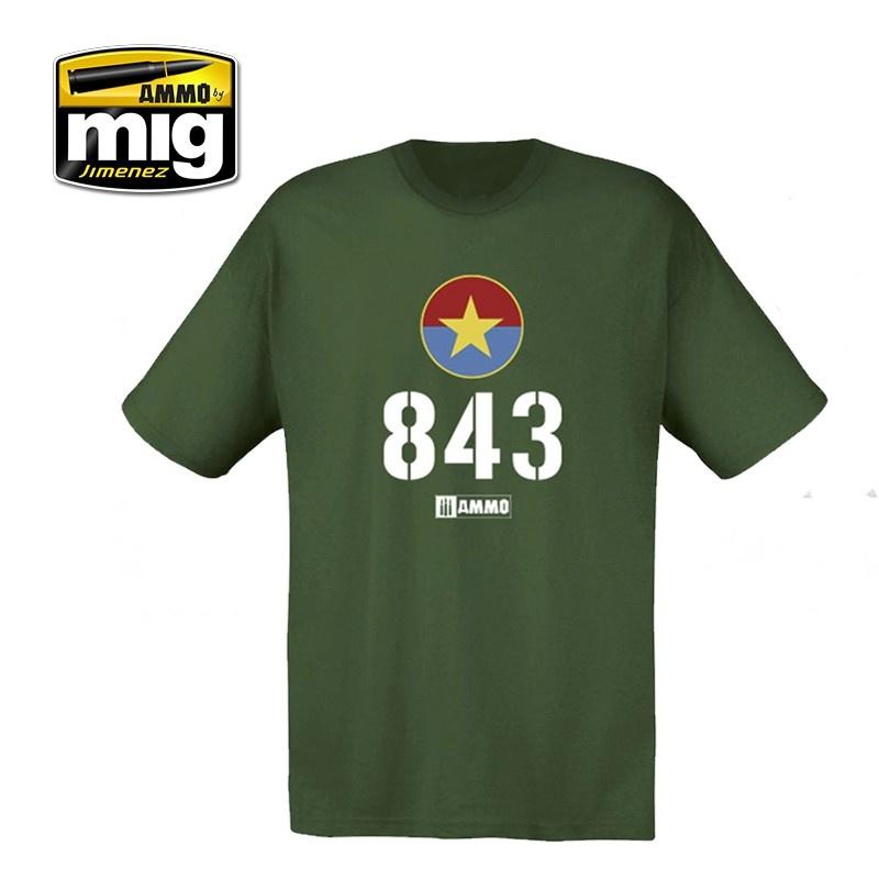 Ammo by Mig Jimenez Merchandise - Ammo 843 Vietnamese T-54 T-Shirt - A.MIG-8031