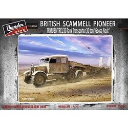 Scammell Pioneer Tank Transporter 30T With Goose Neck Trailer - Scale 1/35 - Thunder Models - TM35207
