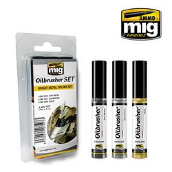 Oilbrushers Bright Metal Colors Set - A.MIG-7507