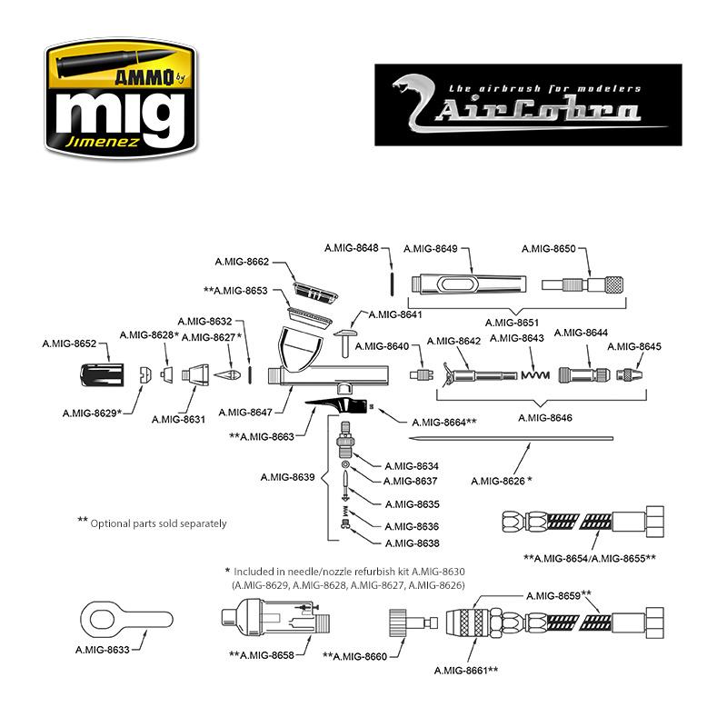 Ammo by Mig Jimenez Aircobra Airbrush (0,3 Mm) - A.MIG-8625