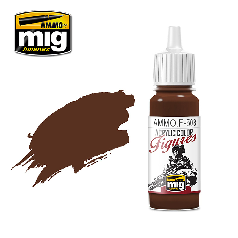 Ammo by Mig Jimenez Figure Series Brown Base FS-30108 - 17ml - AMMO.F-508