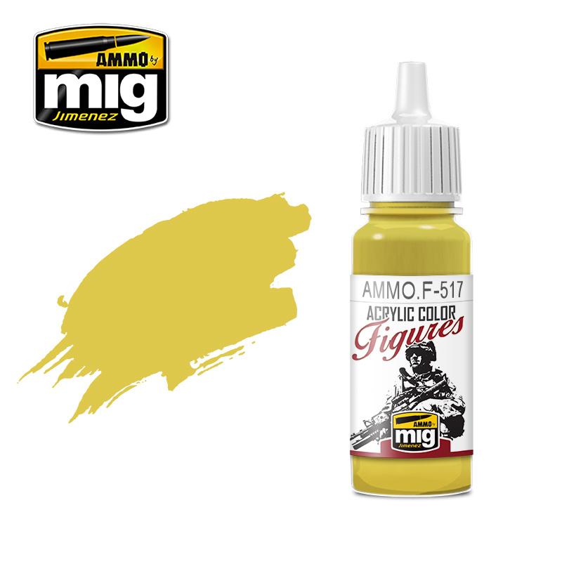 Ammo by Mig Jimenez Figure Series Pale Gold Yellow - 17ml - AMMO.F-517