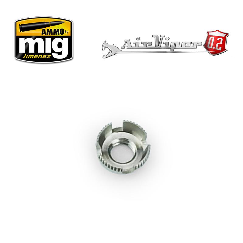 Ammo by Mig Jimenez Airviper Nozzle Cap Guard (4 Slotted Aircap Nozzle Guard Reversible) - A.MIG-8668