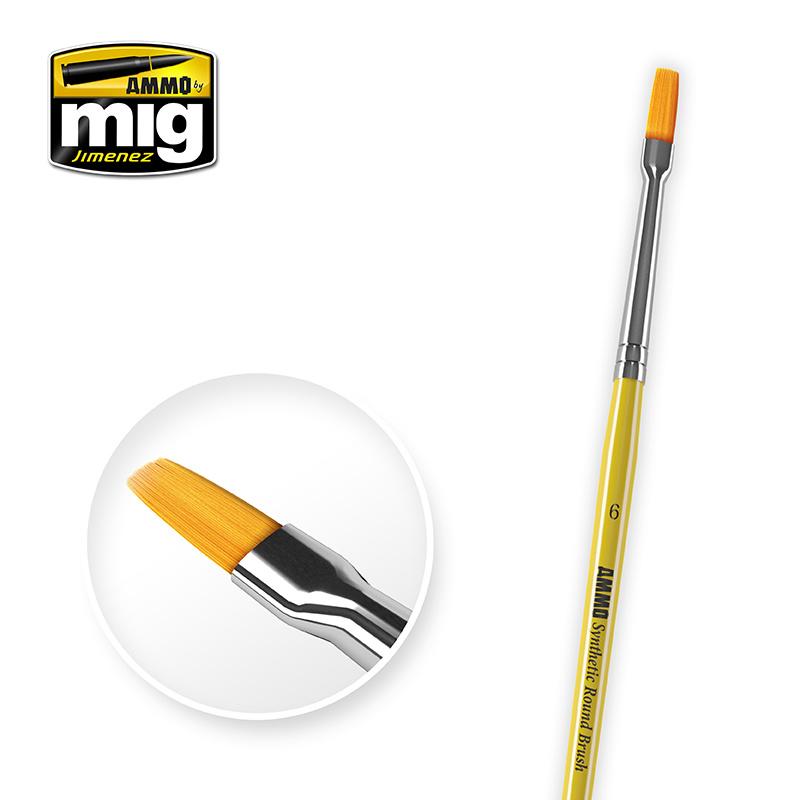 Ammo by Mig Jimenez 6 Syntetic Flat Brush - A.MIG-8621