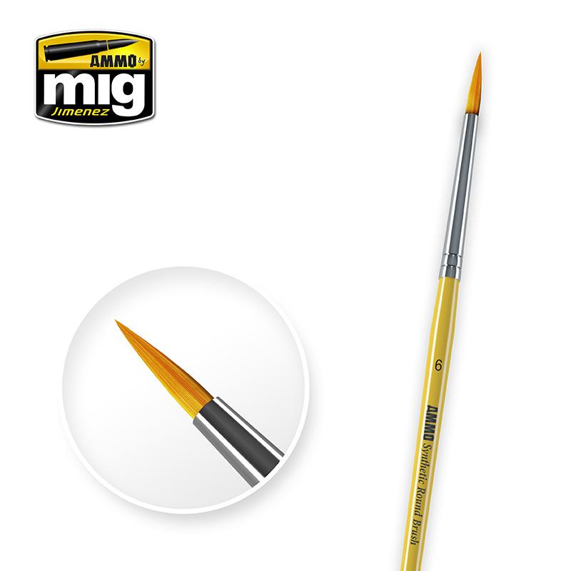 Ammo by Mig Jimenez 6 Syntetic Round Brush - A.MIG-8616