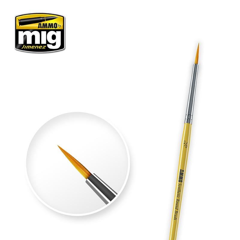 Ammo by Mig Jimenez 2/0 Syntetic Round Brush - A.MIG-8612