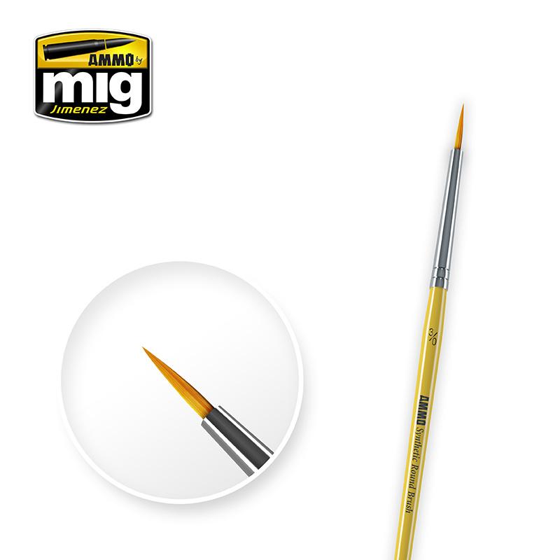 Ammo by Mig Jimenez 3/0 Syntetic Round Brush - A.MIG-8611