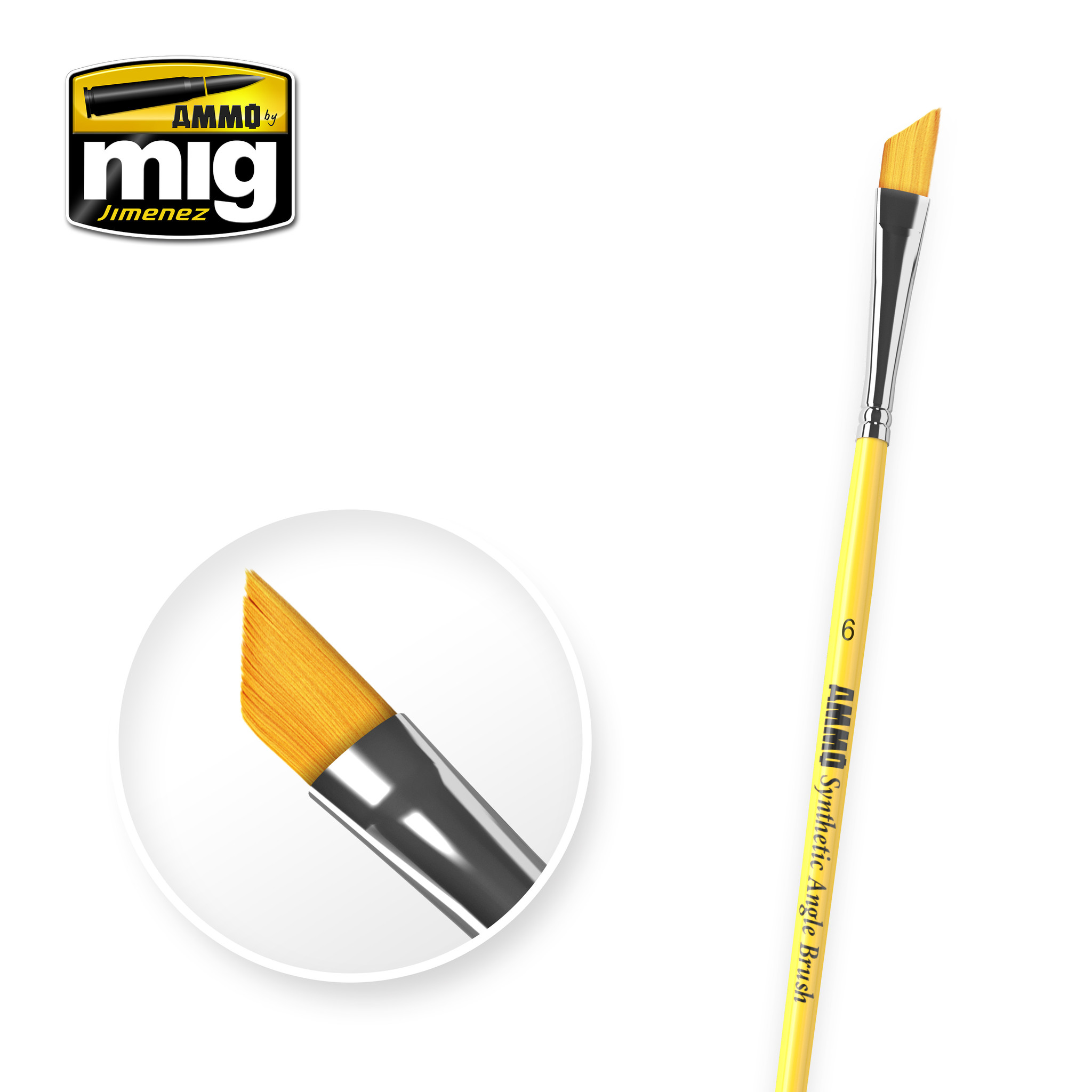 Ammo by Mig Jimenez 6 Syntetic Angle Brush A.MIG-8607