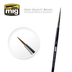 2/0 Premium Marta Kolinsky Round Brush A.MIG-8601