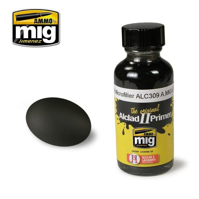 Ammo by Mig Jimenez Alclad by Ammo - Black Microfiller Alc309 - 30ml - A.MIG-8211