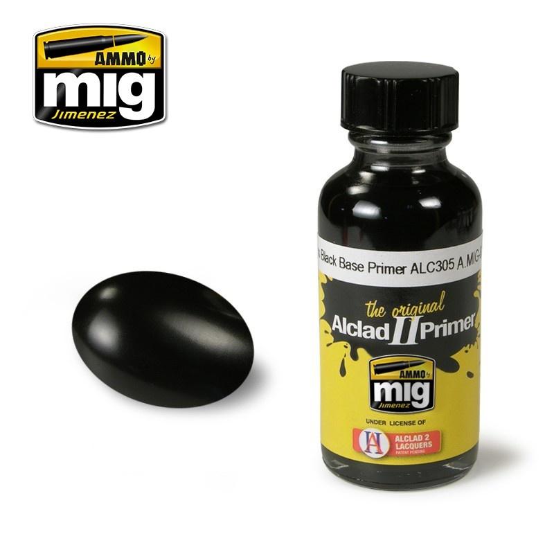 Ammo by Mig Jimenez Alclad by Ammo - Gloss Black Base Primer Alc305 - 30ml - A.MIG-8210