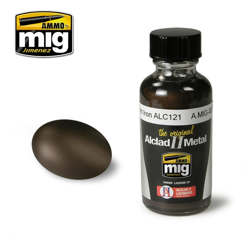 Ammo by Mig Jimenez Alclad by Ammo - Burnt Iron Alc121 - 30ml - A.MIG-8209